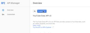 Enable the API