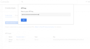 Done, there's your API key